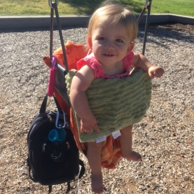 Swinging at the park